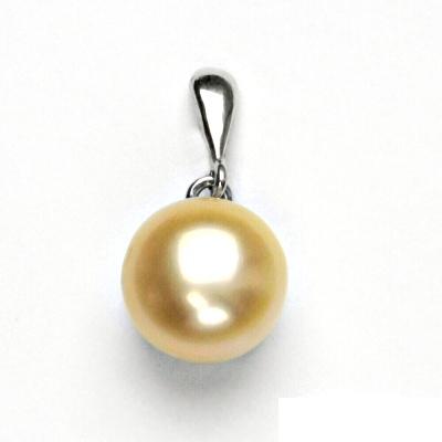 Stříbrný přívěsek, přírodní perla lososová, přívěšek ze stříbra, P 1299/22