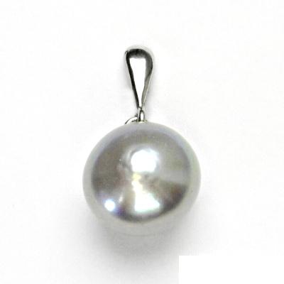 Stříbrný přívěsek, přírodní perla stříbrná, přívěšek ze stříbra, P 1299/22
