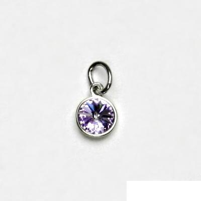 Stříbrný přívěsek, Swarovski krystal violet, přívěšek ze stříbra, P 1336