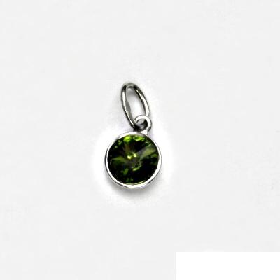 Stříbrný přívěsek, Swarovski krystal olivín, přívěšek ze stříbra, P 1336