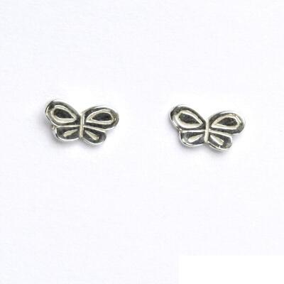 Náušnice na šroubek, motýlek, náušnice ze stříbra, NŠ 399