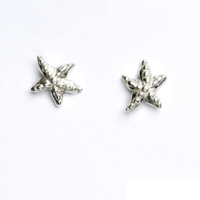 Náušnice na šroubek, hvězdice, náušnice ze stříbra, NŠ 404