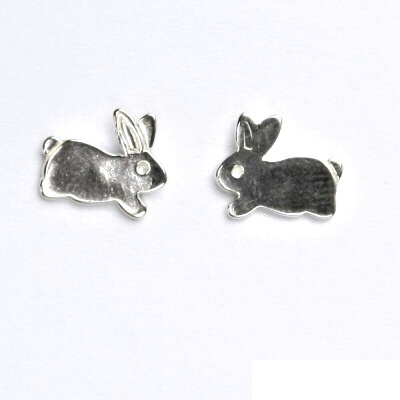 Náušnice na šroubek, králíček, náušnice ze stříbra, králík, NŠ 408