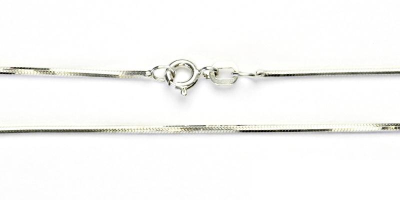 Stříbrný řetízek, řetízek ze stříbra, stříbro, hranaté hádě, 4,13 g, 42 cm
