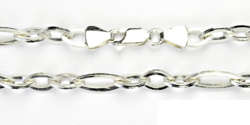 Stříbrný řetízek, silný stříbrný řetízek, stříbro, řetízek ze stříbra, 27,23 g