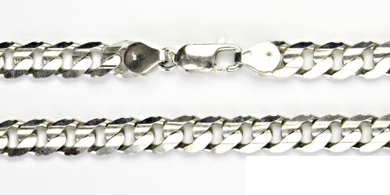 Stříbrný řetízek, silný stříbrný řetízek, stříbro, řetízek ze stříbra, 41,95 g, 60 cm