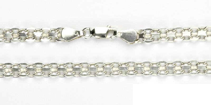 Stříbrný řetízek, silný stříbrný řetízek, stříbro, řetízek ze stříbra, 12,73 g, 42 cm