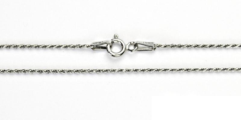 Stříbrný řetízek, stříbro, řetízek, slabý stříbrný řetízek, 2,66 g, 55 cm