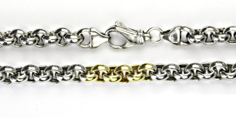 Stříbrný řetízek, řetízek ze stříbra, stříbro, silný řetízek, 34,53 g, 45 cm