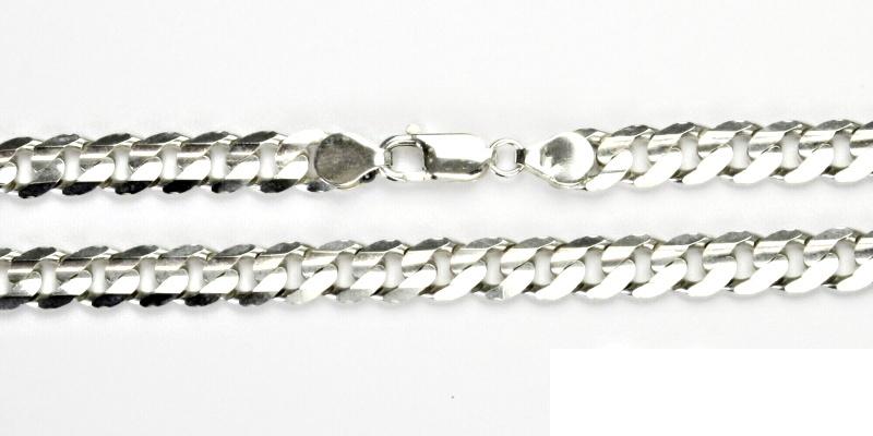 Stříbrný řetízek, silný stříbrný řetízek, stříbro, řetízek ze stříbra, 31,58 g, 50 cm