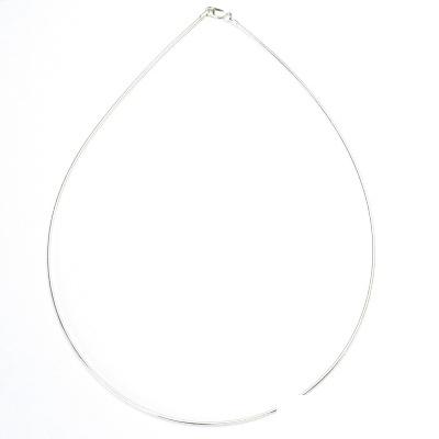 Stříbrná struna, stříbro, řetízek, strnuna na krk ze stříbra, 17,05 g, 2 mm