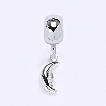 z Stříbrný korálek přívěšek měsíc na náramek,stříbro P 771/2