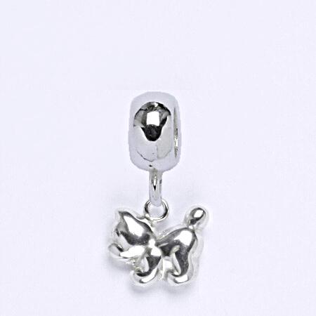 z Stříbrný korálek přívěšek kočka na náramek,stříbro P 769/3