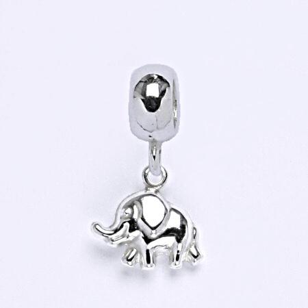 z Stříbrný korálek přívěšek na náramek,stříbro, slon P 773/3