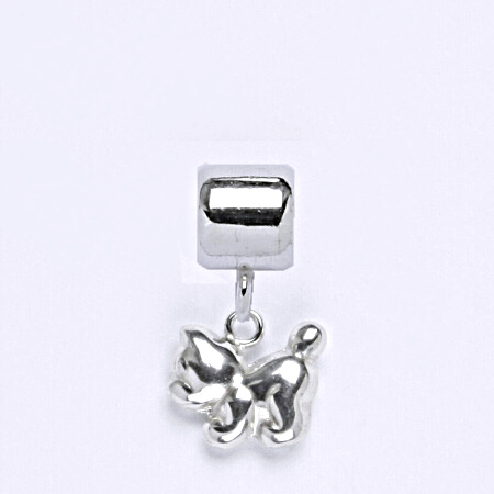 z Stříbrný korálek přívěšek kočka na náramek,stříbro P 769/5
