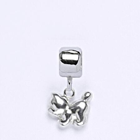 z Stříbrný korálek přívěšek kočka na náramek,stříbro P 769/6