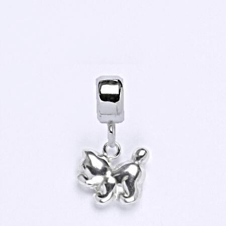 z Stříbrný korálek přívěšek kočka na náramek,stříbro P 769/7