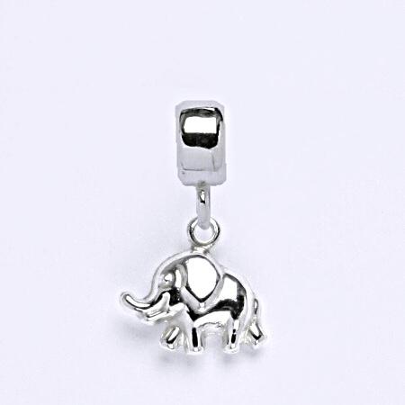z Stříbrný korálek přívěšek na náramek,stříbro, slon P 773/7