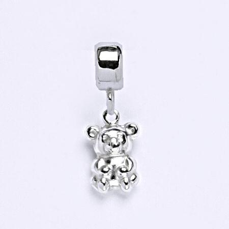 z Stříbrný korálek přívěšek medvěd na náramek,stříbro P 716/7
