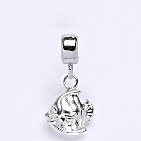 z Stříbrný korálek přívěšek ryby na náramek,stříbro P 728/7