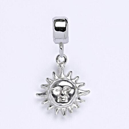 z Stříbrný korálek přívěšek slunce na náramek,stříbro P 713/7