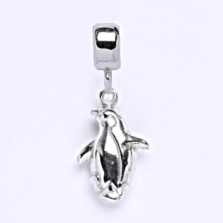 z Stříbrný korálek přívěšek tučňák na náramek,stříbro P 772/7