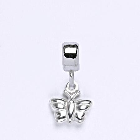 z Stříbrný korálek přívěšek motýl na náramek,stříbro P 763/7
