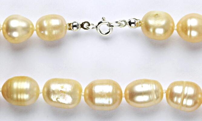 Přírodní říční perly růžové, růžová perla přírodní, náhrdelník z perel, perlový náhrdelník 1