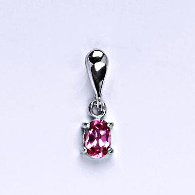 Stříbrný přívěšek s růžovým zirkonem, přívěšek se zirkonem P 1247