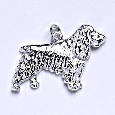 Stříbrný přívěšek pes-kokršpaněl,stříbrný přívěšek ve tvaru kokršpaněla P 147