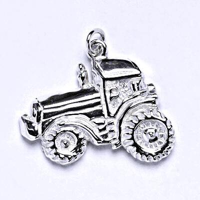Stříbrný přívěšek traktor, přívěsek ze stříbra P 128
