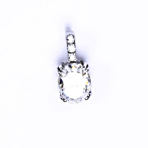 Stříbrný přívěšek, s čirým zirkonem stříbrné šperky 000311001201 VP 31