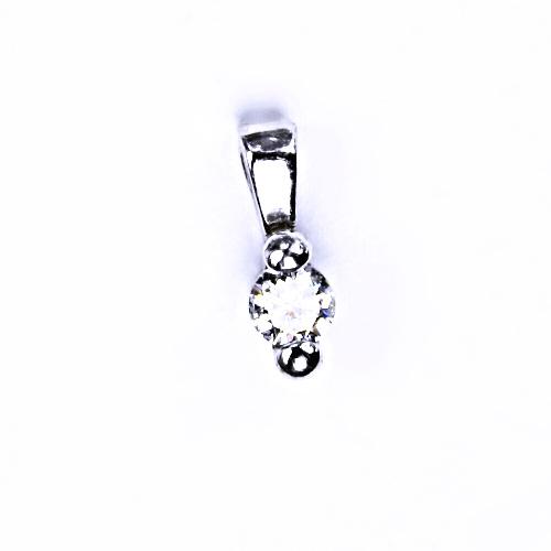 Stříbrný přívěšek, s čirým zirkonem stříbrné šperky 000920750901 VP92 BZ