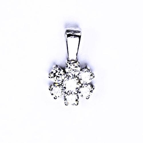 Stříbrný přívěšek s čirým zirkonem stříbrné šperky 001341051261 VP134