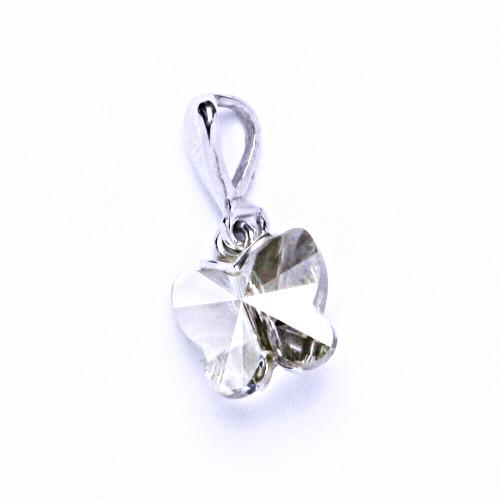 Přívěšky stříbrné s krystalem Swarovski silver shade P 1307
