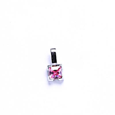 Přívěsky stříbrné se zirkony VP25 pink