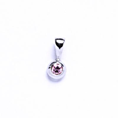 Přívěsky Stříbrné se zirkony VP 12 pink