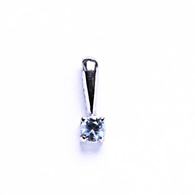 Přívěsky stříbrné se zirkony VP 16 akvamarin