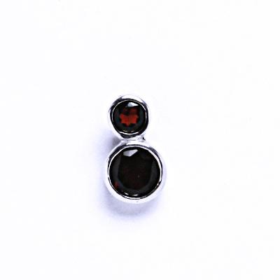 Stříbrné přívěšky s granáty, přívěšek ze stříbra VP130 granát
