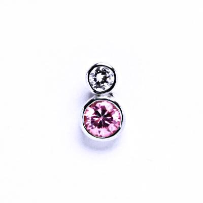 Stříbrné přívěsky se zirkony VP130 B.Z.+pink