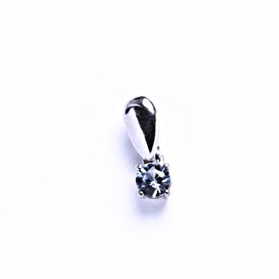 Stříbrné přívěsky se zirkony, prsten ze stříbra VP 52 Akvamarin