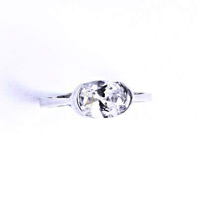 Prsten stříbrný se zirkonem VR 110