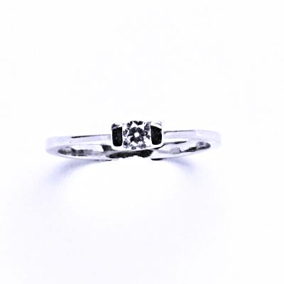 Prsten stříbrný s čirým zirkonem VR 31