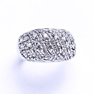 Prsten stříbrný prsten se zirkony, VR 86