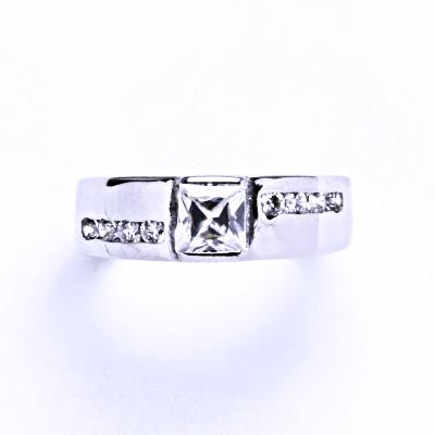 Prsten stříbrný se zirkony VR 287