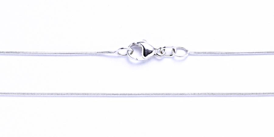 Řetízek stříbrný háďátko string 0,75 mm kulaté