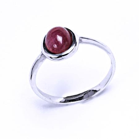 rubín přírodní prsten stříbro šperky, T 1355