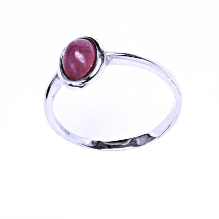 Rubín přírodní prsten stříbro šperky, T 1354