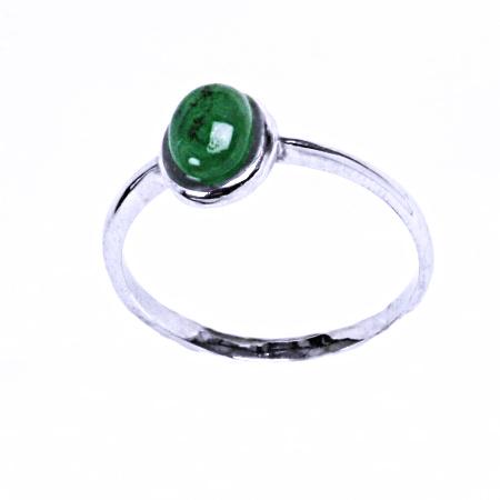 Smaragd přírodní prsten stříbro šperky T 1354