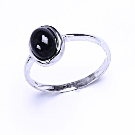 safír přírodní prsten stříbro šperky, T 1355